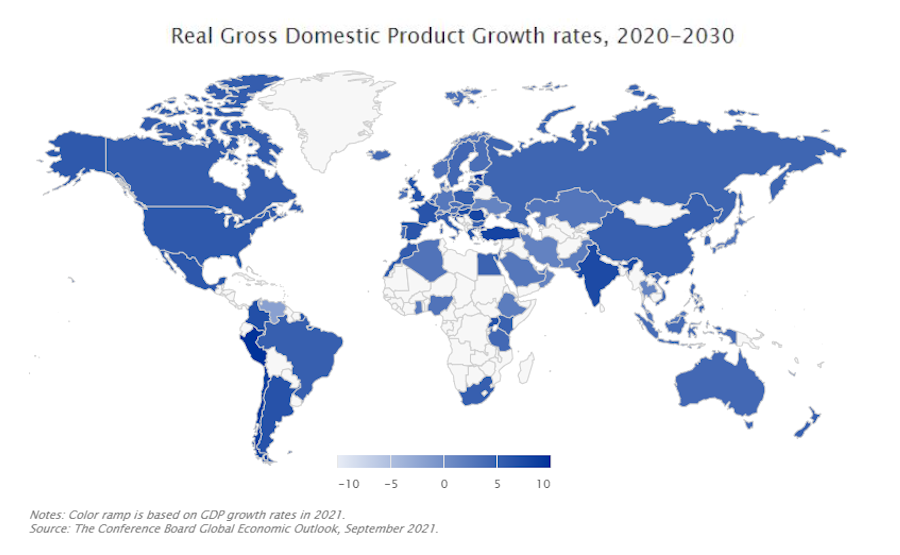 Global Economic Projections for 2013-2021 | The Conference Board